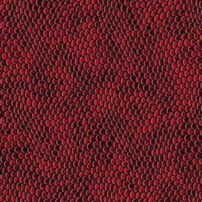 ★ REPTILE SKIN ★ Garnet Red - Small Scale / Collection : Snake Scales – Punk Rock Animal Prints 4