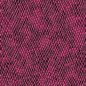 ★ REPTILE SKIN ★ Hot Pink - Small Scale / Collection : Snake Scales – Punk Rock Animal Prints 4