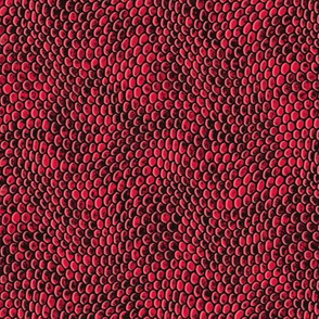 ★ REPTILE SKIN ★ Bright Red - Small Scale / Collection : Snake Scales – Punk Rock Animal Prints 4