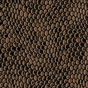 ★ REPTILE SKIN ★ Brown - Large Scale / Collection : Snake Scales – Punk Rock Animal Prints 4