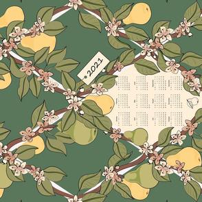 2021 Pear Trellis Tea Towel