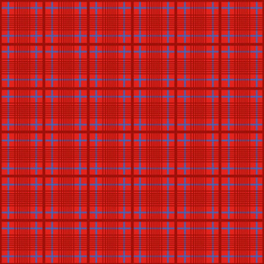 Checkered Maasai shuka inspired pattern  in red and blue