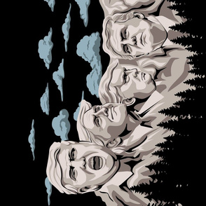 Trump Mt Rushmore Tea Towel