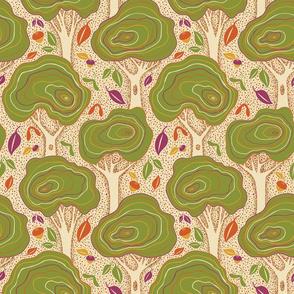 Sprinkle Trees Creme & Apple