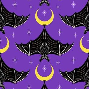Bats and Crescent Moons