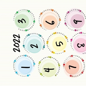 2021 calendar - circles modern calendar