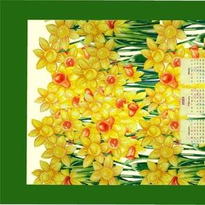 Daffodil Field Calendar 2021