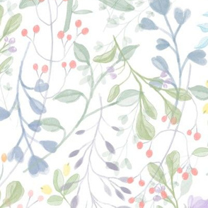 Hushed Forever Spring | Pale Watercolor