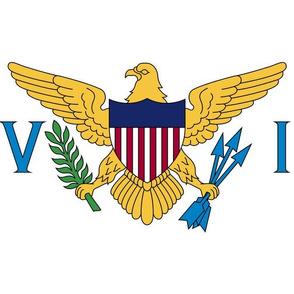 """US Virgin Islands flag, 12x18"""" white panel"""