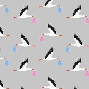 baby stork gray