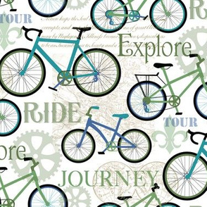 Bicycle Journey Blue and White small