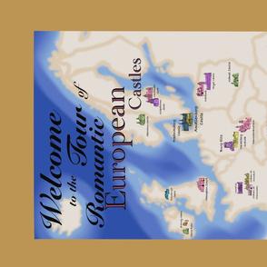 European Castles Tour Poster