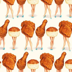 Fried Chicken Pin-Ups