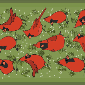 Winter's Fat Red Cardinals