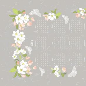 Calendar 2021 TeaTowel Apple Blossom