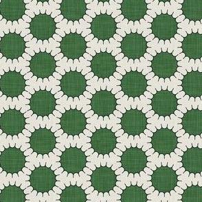 green pincushion dot small