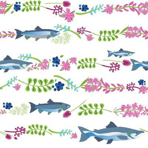 Wildflower Salmon 8x8