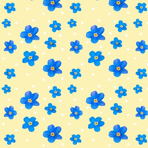 2018 forget me not 8x8 polkadot