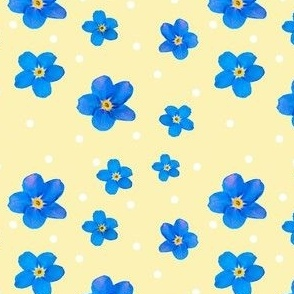 2018 forget me not 4x4 polkadot