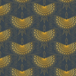 Golden Phoenix Dark Blue