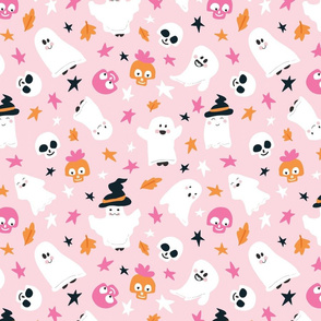 Too Cute to Spook - skulls and ghosts