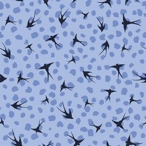 Dancing Swallows Blue