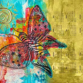New era zen butterfly - Tea Towel Calendar 2021