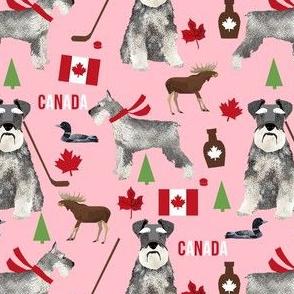 schnauzer canada fabric - dogs in canada - pink