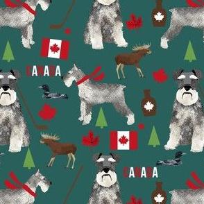 schnauzer canada fabric - dogs in canada - green