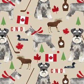 schnauzer canada fabric - dogs in canada - tan