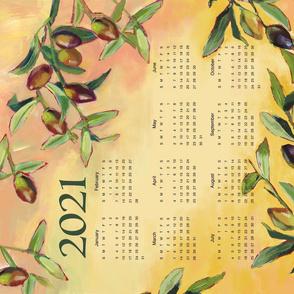 Olives Calendar Tea Towel @Luanne Marten