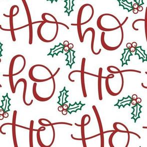 Ho Ho Ho Santa Christmas Large