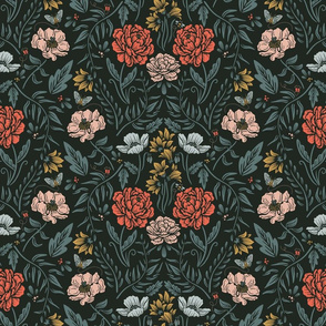 Lamb Illustration's Peonies in the Park Pattern