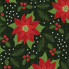 Maximalist Red Poinsettia - Large Scale 12in.