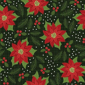 Maximalist Red Poinsettia - Med Scale 8in