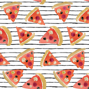 pizza on wobbly stripe