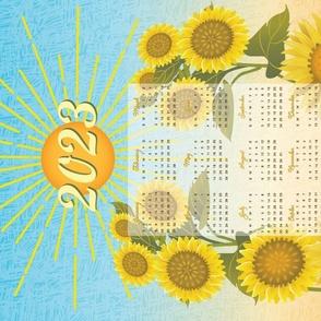 2021 Brighter Days Calendar Tea Towel