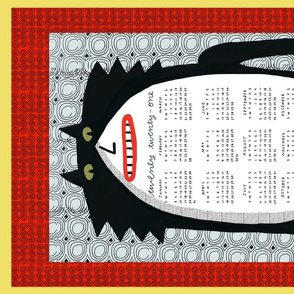 2021 calendar tuxedo cat red
