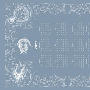 Alice in Wonderland Vintge Blue 2021 calendar