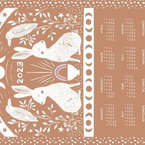 Rabbit and Raven Calendar Tea Towel, Sieanna
