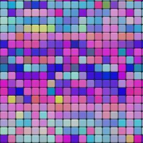 mosaic tiles pastel blue pink spring psmge