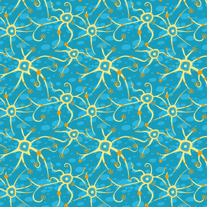 neural network blue and yellow small