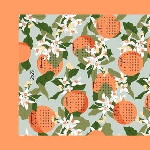 Orange Blossom Tea Towel Calendar 2021