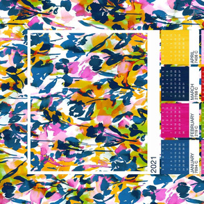 Year of Color 2021 Tea Towel Calendar