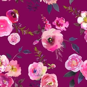 Neon Pink Floral // Mulberry