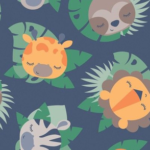 Baby Jungle Animal Faces