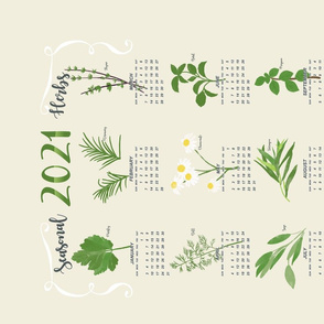 2021 Tea towel - Seasonal Herbs
