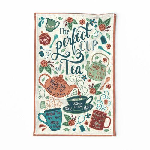 The perfect cup of tea (tea towel)