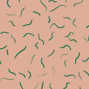 Squiggles Pink and Green