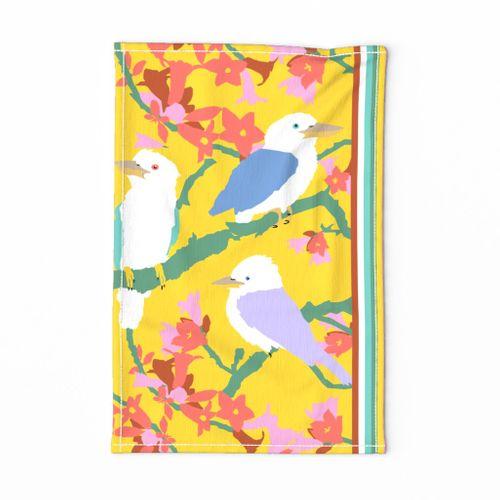 Kookaburra Bird Tea Towel